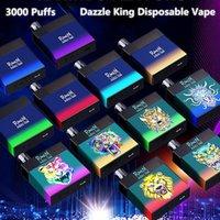 100% Original Randm Dazzle King Descartável E Cigarro Vapores 3000 Puffs Cigarros Eletrônicos 8.0ml POD Glow em LGB escuro LGB 12 Cores Bar pro