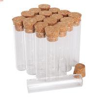 Оптовая 100 шт. 6 мл 16 * 65 мм Пробирки с пробкой крышки стеклянные барабаны флаконы крошечные бутылки для DIY Craft Accentoryhyshight