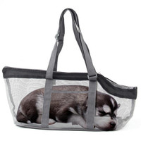 Dog Car Seat Covers Pet Carrier Foldable Breathable Mesh Cat Large-capacity Portable Tote Bag With Reinforced Bottom Plate & Zipper