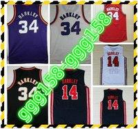 1992 USA Meen Team One 14 Jersey Fashion 34 Charles Barkley Рубашки 13 Стив Нэш Униформа Красный черный фиолетовый белый темно-синий