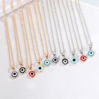 Hot Popular Lucky Jewelry Gold Silber Farbe Teufel Eye Disc Halskette Böhmen Türkische Böse Augen Anhänger Halskette