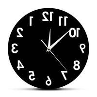 역벽 시계 비정상적인 숫자 뒤로 현대적인 장식 시계 시계 벽을위한 우수한 시계 2180 v2
