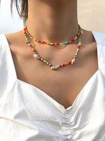 Stillgirl 2pcs Boho perline multicolor perline collane Set per le donne Astetico Doppio choker catena girocollo Y2K Coppia regalo Giochi di gioielli di moda
