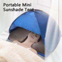 M 사이즈 70 * 50 * 45cm 야외 해변 태양 그늘 텐트 휴대용 UV 보호 팝업 카바나 쉼터 유아용 모래