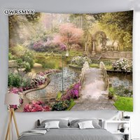 Tapestries Fantasy Flower And Plants Tree Garden Scenery Tapestry Wall Hanging Aesthetic Art Home Living Room Decor Decoration For Bedroom