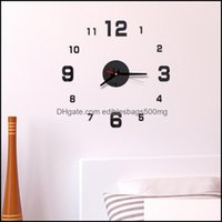 Décor Home & Garden Modern Design Rushed Quartz Clocks Fashion Watches Mirror Sticker Diy Living Room Decor Arrival 3D Real Big Wall Clock D