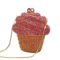 Женские вечерние сумки для женщин Кристалл вечерняя сумка свадьба цепь цепь кроджом сумка свадьба сумка маленькая подарочная коробка сумки для девочки1