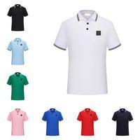 Erkek Polos Taş T-Shirt En Kaliteli Kısa Kollu Ada Yaz Pamuk Nakış Lüks T Gömlek Yeni Tasarımcı Polo Gömlek High Street Tee
