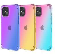 TPU Soft Case Shockproof Phone cases For iPhone 11 Pro Max XS Gradient Ramp Colorful Back Cover