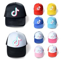 10 couleurs Summer Mesh Ball Hat Tiktok Logo Capuchon de baseball Designers Unisex Snapbacks Net Patchwork Patchwork Hats Chapeaux Sports Beach Visière G36epf2