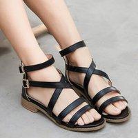 Sandals Women High Heel Gladiator Buckle Strap Fashion Shoes Woman Sandalias Mujer 2021 Summer Ladies Plus Size 35-43