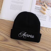 2021 New Embroidered Knitted Hat Baotou Autumn Winter Fashion Warm Children's Versatile Japanese Letter Net Red