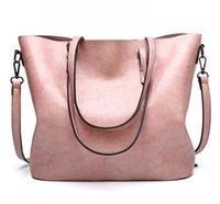 HBP 여성 핸드백 PU PU 가죽 어깨 가방 대형 totes 가방 캐주얼 고품질 핸드백 지갑 분홍색