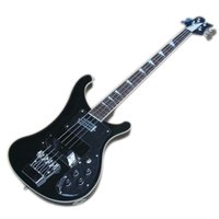 Black 4 Strings 4003 Ricken Electric Bass Guitar Con FreBoard de palisandro, Tres estilos disponibles