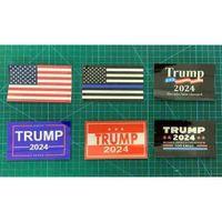 6pcs / Set Donald John Trump 2024 US Election Adesivi per auto Accessori La Bandiera nazionale americana Stampato Autoadesivo Paster DHL G338ETW