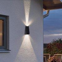Solar Lamps Exterior Lights LED Light Outdoor Waterproof Sunlight Powered Wall Lamp Garden Ornaments Decorative Lantern