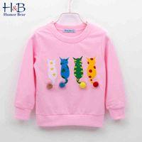 Baby Kids Sweater Autumn Long-sleeve T-shirt Boy Girls Children Clothes Cartoon Child Coat Outwear Clothing 2-7Y 210507