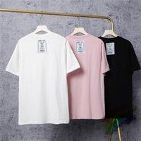 남성용 티셔츠 Vetements T 셔츠 남성 여성 고품질 편지 반전 티셔츠 백 화이트 패치 탑 티셔츠 짧은 소매 T9ZV