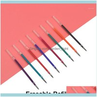 Gel Supplies Business & Industrialgel Pens 8Pcs Genkky Magic Erasable Pen Refill 0.5Mm Blue Black Red Ink For Writing Stationery Office Scho