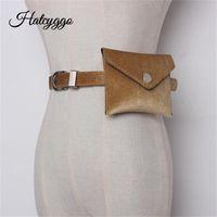 Hatcyggo عارضة السيدات عملي أحزمة الغزال الفاخرة حقيبة صغيرة حزام طويل المرأة الأزياء المد كل مباراة بالجملة.