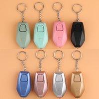 أنظمة الإنذار جهاز قابلة للشحن 130 ديسيبل الشخصية صفارات الإنذار مصباح يدوي الذكية الصاخبة الهزاة الذعر سلسلة المفاتيح نوعية جيدة