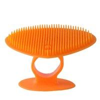 Spugnes tamponi abrasive semplici strumenti per la pulizia della famiglia morbido clarisonico silicone faccia pulitore spazzola rimuovi il trucco colorato libero 1 35 DI27