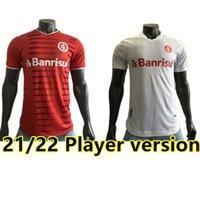 21 22 Brasil Internacional Home Soccer Jersey 2021 2022 Fãs de Guerrero + Versão do Jogador Damiao Silva D Alessandro Adulto Homem Football Shirt