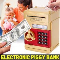 Eletrônico cofrinho caixa eletrônico caixa de dinheiro caixa moedas de dinheiro salva caixa caixa cofre caixa de depósito automático cédula de depósito de natal 210430