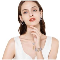 Ohrringe Halskette 4 stücke Schmuck Für Damen Valentinstag Frau 1 stücke Anhänger 2 Set Ohrring und 1 Stück Armband Geschenke