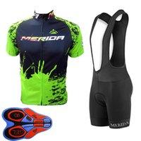 Merida Team 2020 Män Cykling Jersey Bib Shorts Set Sommar Andningsbar Snabbtorkad Bike Uniform MTB Cykel Sportkläder Y121602