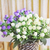 Heads Peony Hydrangeas Silk Rose Flower Artificiales Bouquets Flowers White Wedding Decor Decorative & Wreaths