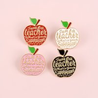 Alloy Apple Baking Paint Pin Teachers Gift 4 Colors Brooch Personality Originality Jewelry I Am A Teacher 1 4bl Q2