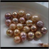 Jewelry Drop Dostawa 2021 DIY Luźne Koraliki Pearl Aessories Barok Edison Naturalne Słodkowodne Białe Kolorowe Nieregularne Duże Perły 11-1m