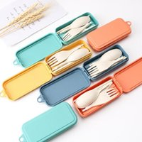 Cutelaria Dinnerware Mini Ao Ar Livre Viagens Portátil Sets Candy Color Dobrável Jantar Set Student Kids Kitchen Tool