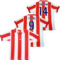 Retro Atletico Torres Futbol Forması 1903-2003 100. Yıl Versiyonu Musampa Sergi Contra Ibagaza Klasik Simeone Futbol Gömlek