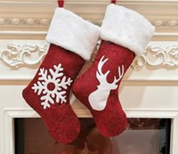 Christmas Gift Bag Stocking Tree Ornament Decorative Kids Candy Gifts New Year Prop Socks Xmas Decorations