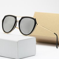High quality glass vintage mens sunglasses for women polarized Letter printing lens spy aviator glasses driving on vacation