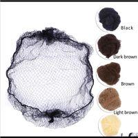 20 adet Örnek Sipariş Beş Renkler Naylon Saçnetler Siyah Kahverengi Kahverengi Kahverengi Kahverengi Renk Görünmez Yumuşak Elastik Hatlar Saç Net Hcris Peruk Kapaklar Pdyk3