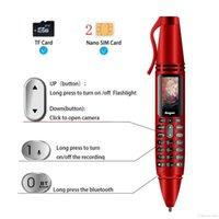 0.96inch minúsculo tela goofone caneta mini telefones celulares desbloqueados k07 cartão duplo cartão de discador de bluetooth bluetooth com canetas de gravação de lanterna