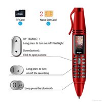 0.96inch Tiny Screen Goophone Pen mini Mobile phones Unlocked K07 Dual SIM Card Bluetooth Dialer Cellphone with Flashlight Recording Pens
