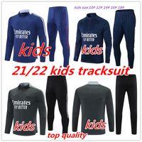2021 Kids Tracksuit Soccer 20 21 22 Kit Maillot de Football Aouar Denbele Memphis Treinamento Terno Conjunto de Criança