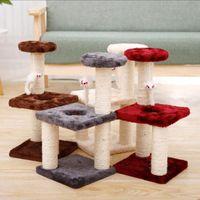 Кошачьи игрушки, подъемная рамка для домашних животных для домашних животных, шлифовальные колышки кошки три колонны слои квадратная пластина дома