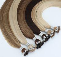 ロシアの毛のキューティクル整列髪の手の縛られたよこ糸の延長8ピース/ 100グラム