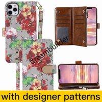 Estuches para teléfono de moda para iPhone 13 12 Pro Max Mini 11 11PRO XR XR XSMAX SHELL CUERCO Paquete de tarjeta multifunción Paquete de cartera de almacenamiento
