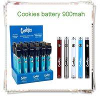 Original Cookies Backwoods Twist Preheat VV Battery 900mAh Bottom Voltage Adjustable VS Vertex Law 510 thread battery Cartridges 30Pcs with Display Box