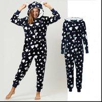Winter Pajama Set Warm Flannel Womens Sleepwears Hooded With Pocket Onesie Fluffy Sleepwear Female One piece Jump Suits Pyjama Homewear