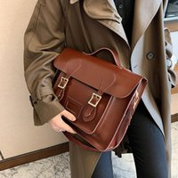 Backpack Female Shoulder Bag College Style Vintage High-Quality Pu Leather Women High Capacity Travel Books Rucksack