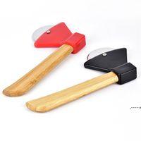 Cuchillos de pastel mediana redondo Tallo de bambú Pizza Cuchillo Pasteles para hornear Herramienta de cocina Resistencia al desgaste FWF5965