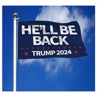 Флаг Трампа 2024 Он вернется, сделает голосов снова 3 * 5 футов президент президента Трампа 90 * 150см
