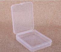 Caja de contenedores de almacenamiento de plástico Caja de máscara de rectángulo vacío Transparente Maquillaje Organizadores Paquete Paquete Portátil Mascarilla Joyería